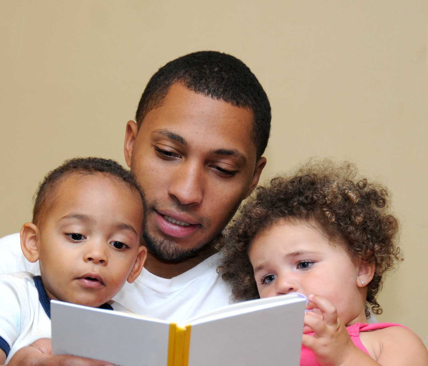 Father Reading to Children - Help Me Grow NY