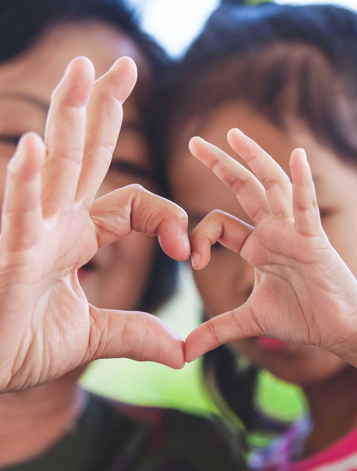 Mother and Child, Fingers Making a Heart – Help Me Grow NY