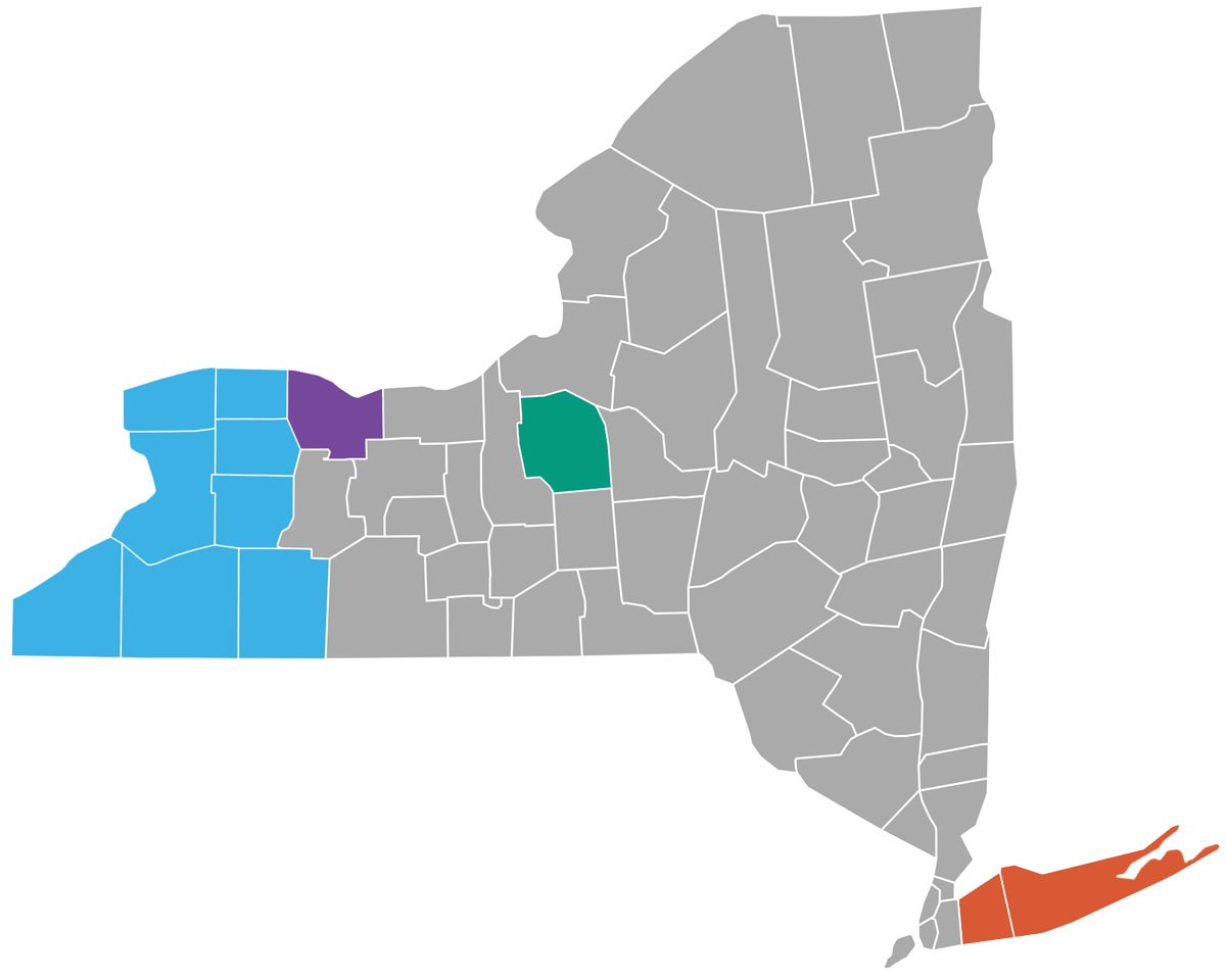 Counties Map of NYS – Help Me Grow NY
